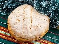 Содена питка от брашно, вода и оцет за Бъдни вечер с паричка (без кисело мляко и без сирене)